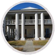 Gamble Mansion Parrish Florida Round Beach Towel