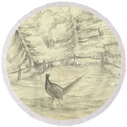 Game Bird By W  Buelow Gould  C 1835  Round Beach Towel