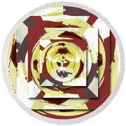 Game Of Shapes Round Beach Towel