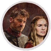 Game Of Thrones. Cersei And Jaime. Round Beach Towel