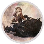 Game Of Thrones. Daenerys. Mother Of The Dragons. Round Beach Towel