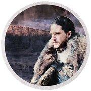 Game Of Thrones. Jon Snow. Round Beach Towel