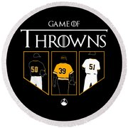 Game Of Throwns Round Beach Towel
