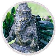 Ganesha Ganesa Ganapati Vinayaka Pillaiyar Hindu Pantheon Round Beach Towel