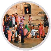 Ganges Round Beach Towel