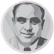 Gangster - Al Capone Round Beach Towel