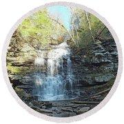 Ganoga Falls 3 - Ricketts Glen Round Beach Towel