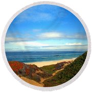 Garapata State Park South Of Monterey Ca Seven Round Beach Towel
