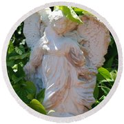 Garden Angel Round Beach Towel
