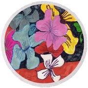 Garden Arrangement Round Beach Towel