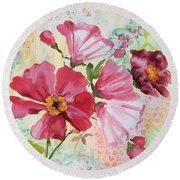 Garden Beauty-jp2954b Round Beach Towel