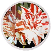 Garden Beauty Work Number 30 Round Beach Towel