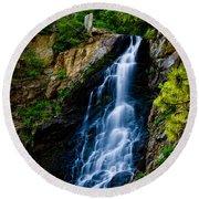 Garden Creek Falls Round Beach Towel