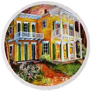Garden District Home  Round Beach Towel