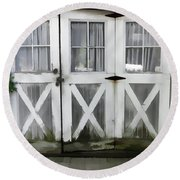 Garden Doors Round Beach Towel