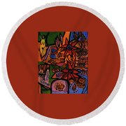 Garden Round Beach Towel