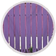 garden Fence Round Beach Towel