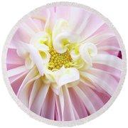 Garden Floral Art Pink Dahlia Flower Baslee Troutman Round Beach Towel