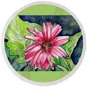 Garden Flower Round Beach Towel