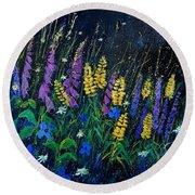 Garden Flowers 679080 Round Beach Towel