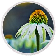 Bristle Flower Round Beach Towel