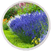 Garden Flowers Round Beach Towel