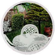 Garden Lights Round Beach Towel