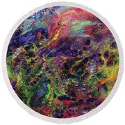 Garden Of Colorful Delight Round Beach Towel