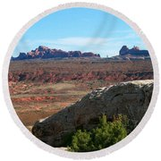 Garden Of Eden Rock Formations, Arches National Park, Moab Utah Round Beach Towel
