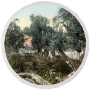 Garden Of Gethsemane Round Beach Towel