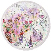 Garden Of Hope  Round Beach Towel