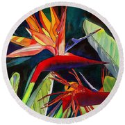 Garden Of Paradise Round Beach Towel