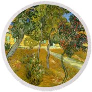 Garden Of Saint Paul's Hospital Round Beach Towel