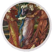 Garden Of The Hesperides Round Beach Towel