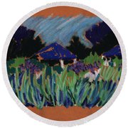 Garden Party Round Beach Towel