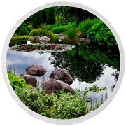 Garden Reflections ... Round Beach Towel