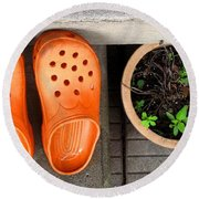 Garden Shoes Round Beach Towel