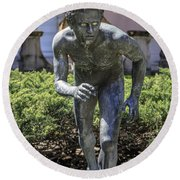 Garden Statue Ringling Museum  Round Beach Towel