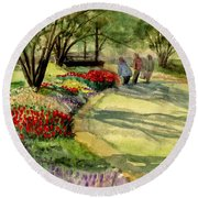 Garden Walk Round Beach Towel