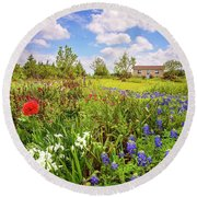 Gardener's Delight Round Beach Towel
