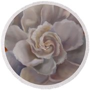 Gardenia  Bloom Round Beach Towel
