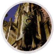 Gargoyle At The Dom Church In Utrecht In The Evening 188 Round Beach Towel
