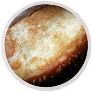 Garlic Bread Round Beach Towel