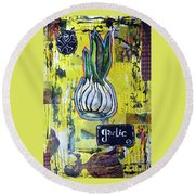Garlic Round Beach Towel