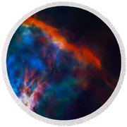 Gas Plume Orion Nebula 2 Round Beach Towel