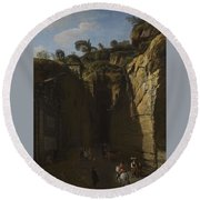 Gaspar Van Wittel  Called Vanvitelli Amersfoort 1652   1736   A View Of The Grotto At Pozzuoli With  Round Beach Towel