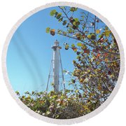 Gasparilla Lighthouse Round Beach Towel