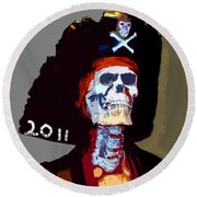 Gasparilla Pirate Fest Poster Round Beach Towel