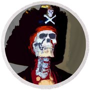 Gasparilla Work Number 5 Round Beach Towel by David Lee Thompson
