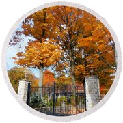 Gate And Driveway Round Beach Towel